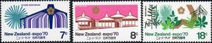 New Zealand #459-61 Expo '70 ~ (7713)