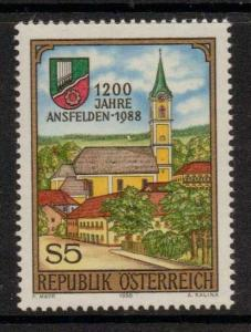 AUSTRIA SG2175 1988 1200th ANNIV OF ANSFIELDEN MNH
