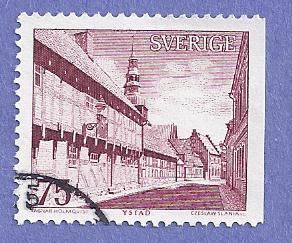 Sweden Scott #1040 Building CV $.20, Used