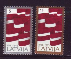 Latvia Sc 353-4 1993 75 yrs Independence stamp set mint NH