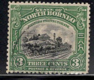 North Borneo Scott 169 Used Railroad stamp