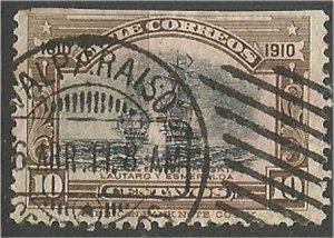 CHILE, 1910  used 10c, Oath of Independenc Scott 87