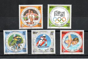 Isle of Man 615-619 MNH