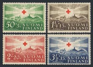 Finland B35-B38,hinged.Michel 217-B220.Red Cross Society,75th Ann.1939.Solferino