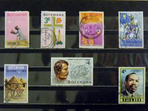 BOTSWANA   Used, VF  # 82, 93, 96, 98, 100, 102, 132    CV$ 1.80