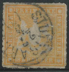 German States Wurttemburg Scott #46 Used Stamp CV $950
