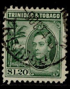 TRINIDAD & TOBAGO GVI SG255, $1.20 blue-green, FINE USED.