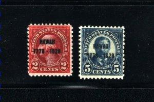 USA 647-48    Mint NH 1928  PD