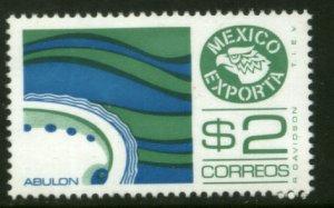 MEXICO Exporta 1117, $2P Abalone Unwmkd Fosfo Paper 7. MINT, NH. VF.