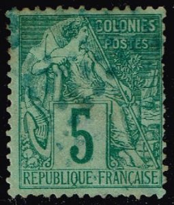French Colonies #49 Commerce; Used (2Stars)