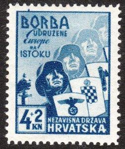 Stamp Croatia Sc B6 1941 WWII 3rd Reich NDH Axis Italy Legion MNH