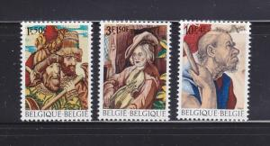 Belgium B847-B849 Set MNH Art, Tapestries (A)
