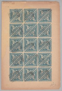 COGH38) Cape of Good Hope Forgery of the 4d Blue Woodblock in a complete sheet