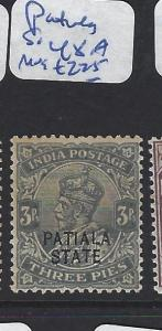 INDIA PATIALA  (P2509B)  KGV  3P  SG 48A   MOG