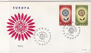 Europa Luxembourg 1964 CEPT Ann. Cancels Flower Pic FDC 2x Stamps CoverRef 25970