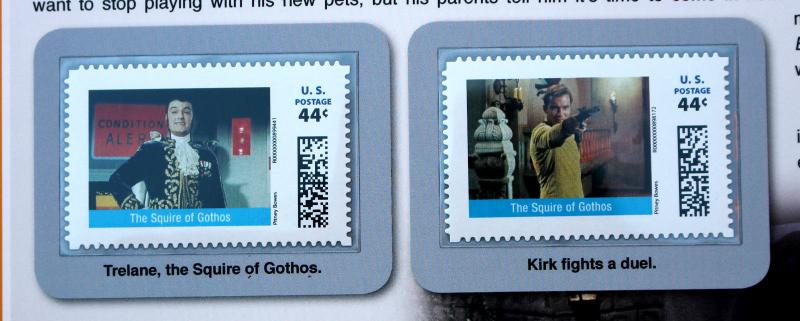 STAR TREK 2011 Pitney Bowes 44 Cent Large Stamp Panel The Squire of Gothos #18