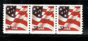 3631 Flag US PNC Strip Of 3 Mint/nh FREE SHIPPING