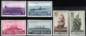 Turkey #990-95 MNH CV $12.00 (X7724)