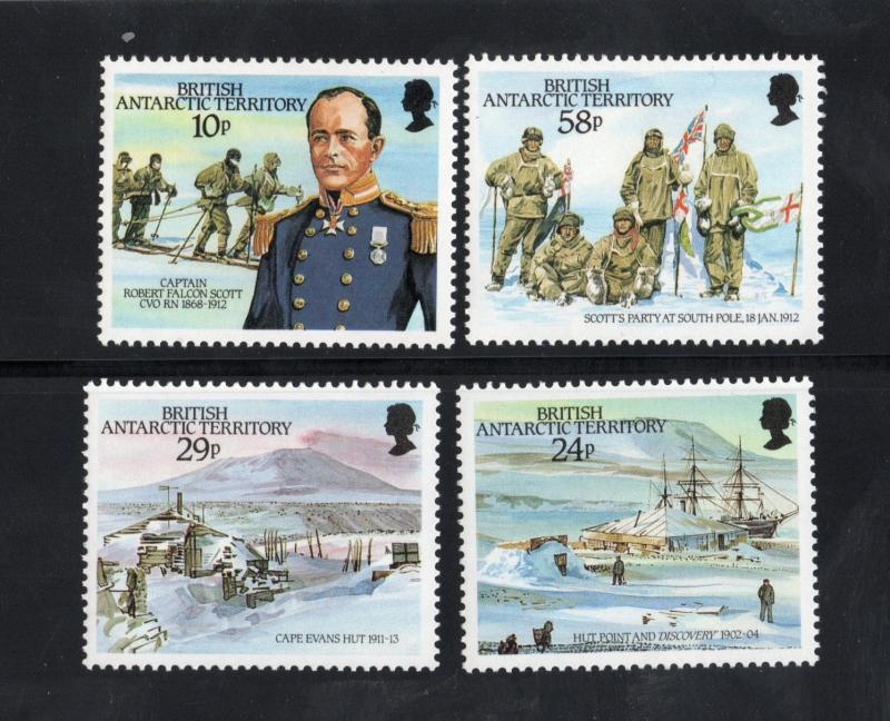 BRITISH ANTARCTIC TERRITORY Sc# 137 - 140 MNH FVF Set-4 Capt Scott