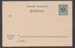 Germany Mi P31b mint 1898 5pf + 5pf  Postal Reply Double Card, VF