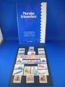 NORWAY 1978  -  SCOTT # 725-740  YEAR SET   MNH