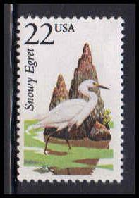 2321 22c Snowy Egret Fine MNH W3425