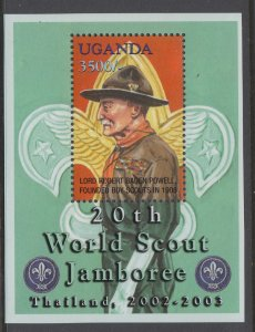 Uganda 1771 Boy Scouts Souvenir Sheet MNH VF
