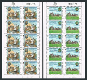 Isle of Man 174-75 sheets/10,MNH.Michel 164-165. EUROPE CEPT-1980.Thomas Brown,