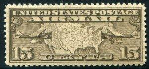 HERRICKSTAMP UNITED STATES Sc.# C8 15¢ Map Stamp Superb NH