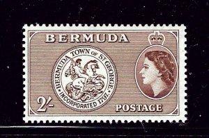 Bermuda 158 MLH 1953 issue