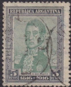 Argentina 1916 SC 228 Used Signed