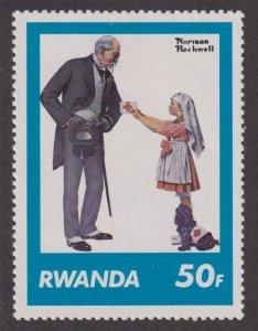 Rwanda 1033 Saturday Evening Post Covers 1981