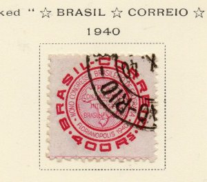Brazil 1940 Early Issue Fine Used 400r. NW-12117