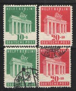 Germany - Deutsche Post 1948 Sc# B302-B303 MHR & Used VG - Aid for Berlin set