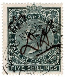 (I.B) Cape of Good Hope Revenue : Stamp Duty 5/- (1896)