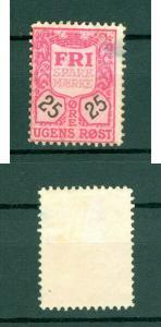 Denmark. Poster Stamp. Fri Saving Seal 25 Ore. Cancel