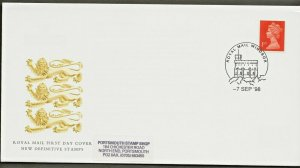7/9/1998 NEW 1st NVI CLASS QUESTA.LWA BLUE FLUOR AND 'S' EILIPSE EX BOOKLET FDC