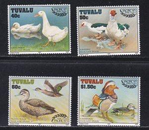 Tuvalu # 742-745, PACIFIC 97 Philatelic Exhibition - Ducks,  NH, 1/2 Cat.