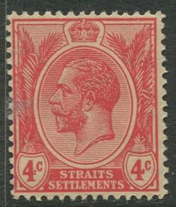 Straits Settlements - Scott 154 - KGV Definitive - 1918 - MNG - 4c Stamp