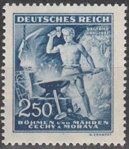 Czechoslovakia Bohemia & Moravia #87  MNH