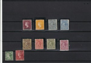 st vincent mounted mint  and used early stamps ref r12435