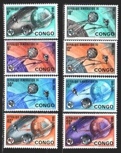 Kinshasa. 1965. 227-34. Space, satellites. MNH.