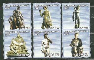 Mozambique MNH 1473A-F Michelangelo Works SCV 8.00