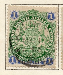 Rhodesia 1896 Early Issue Fine Used 1S. NW-11467