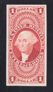 US R67P4 $1 Entry of Goods Proof on Card VF-XF SCV $45