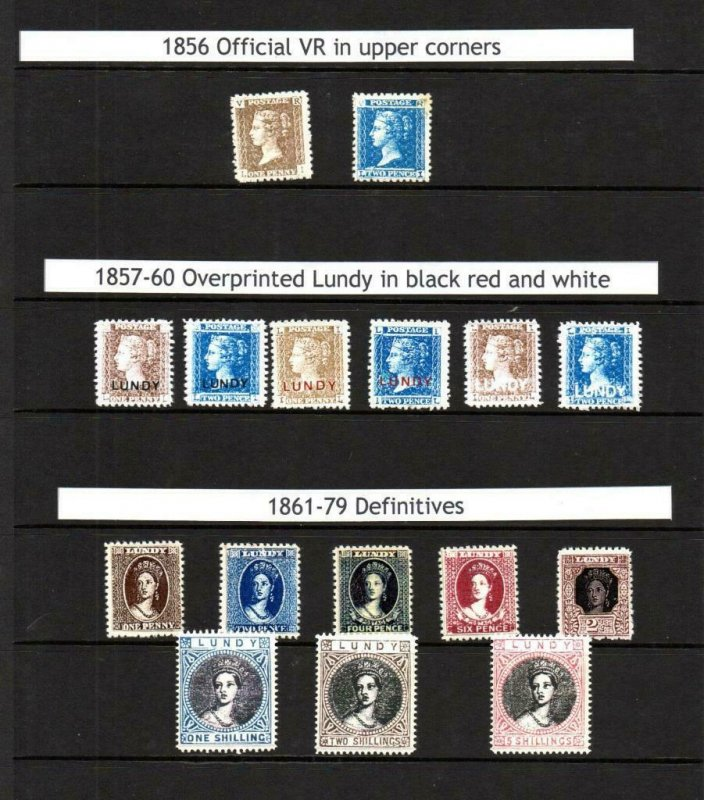 COLLECTION OF 16x GERALD KING 'ALTERNATIVE LUNDY' FANTASY STAMPS