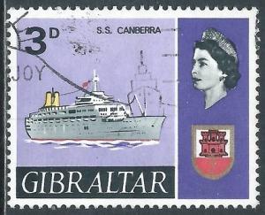 Gibraltar, Sc #190, 3d Used