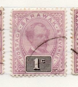 Sarawak 1888 early Brooke Issue Fine Used 1c. 196116