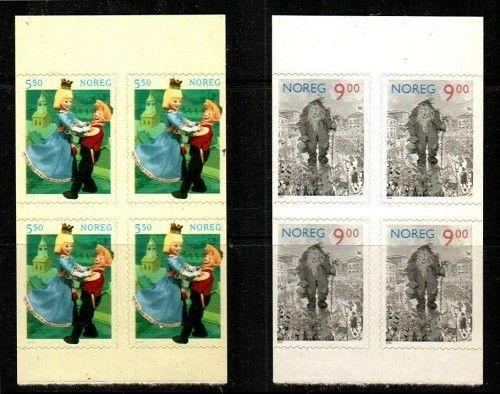 Norway Scott 1329a-30a Mint NH panes of 4 (Catalog Value $19.00)