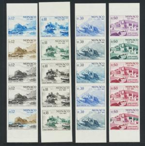 MONACO 1966 250th ANNIVERSARY  COLOUR TEST PROOFS IMPERF 4 VALUES (SEE BELOW)